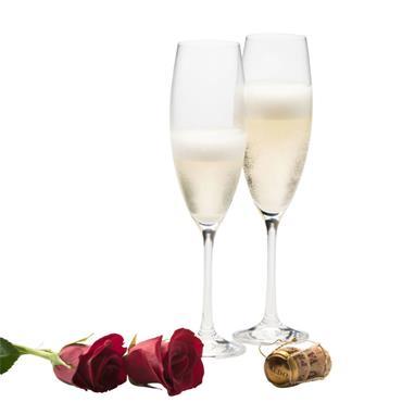 Belleek Elegance Champagne / Prosecco Glasses 2pk