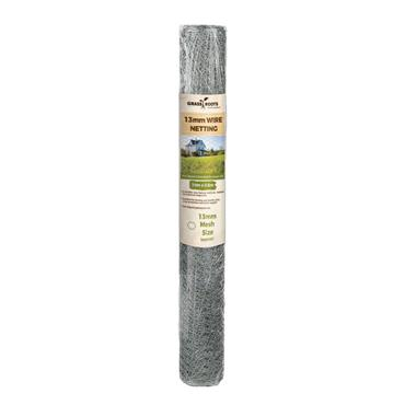 Grass Roots 13mm Galvanised Wire Netting 10 x 0.6m