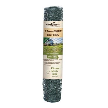 Grass Roots 13mm PVC Coated Wire Netting 6 x 0.5m