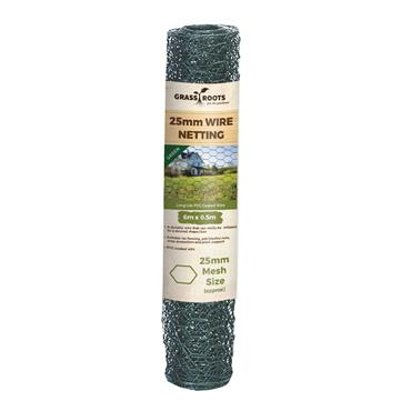 Grass Roots 25mm PVC Coated Wire Netting 6 x 0.5m