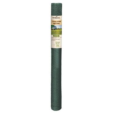 Grass Roots 13mm PVC Coated Wire Netting 6 x 1m