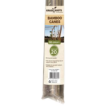 Grass Roots 90cm Pre-Packed Bamboo Canes Natural 20pk