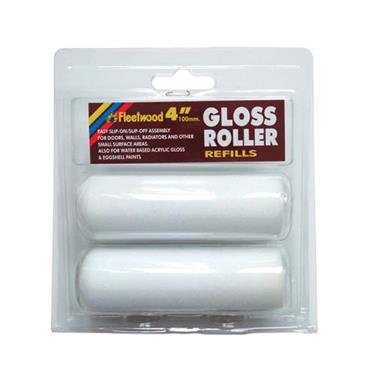 """Fleetwood 4"""" Sponge Gloss Roller Refill 2pk"""