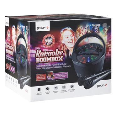Bluetooth Karaoke Boombox Black