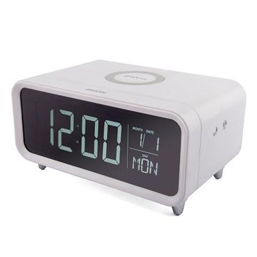 Groov-e Athena Wireless Charging Pad & Night Light Alarm Clock White