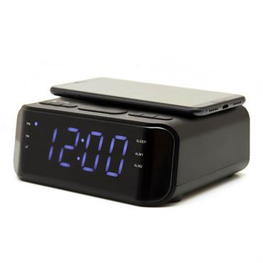 Groov-e Alarm Clock with USB & Wireless Charging