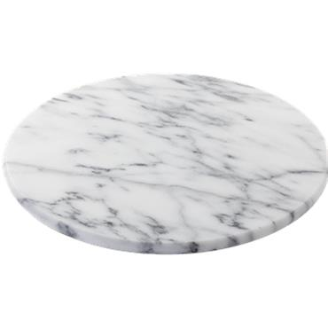 Horwood White Marble Lazy Suzan
