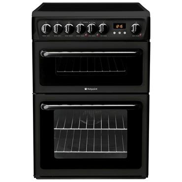 Hotpoint 60cm Double Oven Black