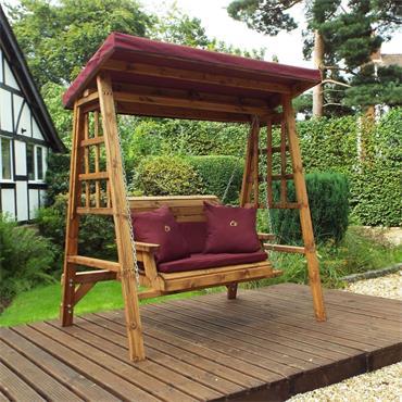 Dorset 2 Seater Swing (Burgandy Cushions)