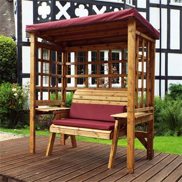 Wentworth 2 Seater Arbour (Burgundy Cushions)