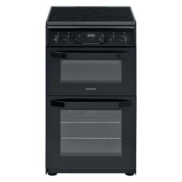 Hotpoint Free Standing 50cm Black Electric Cooker
