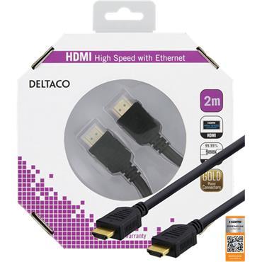 Deltaco HDMI Cable 2m