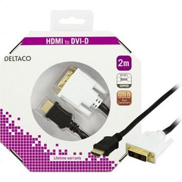 Deltaco HDMI To DVI Cable Full HD 2m