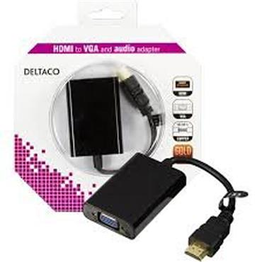 Deltaco HDMI To VGA Adapter 0.2m