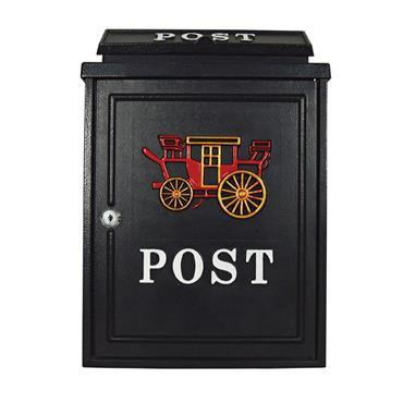 De Vielle Horse Carriage Diecast Post Box