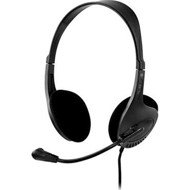 Deltaco Headset with Microphone Black