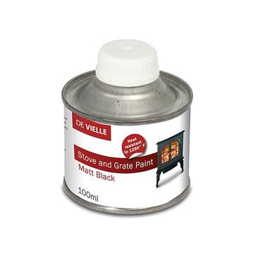 De Vielle Stove Paint Matt Black 100ml