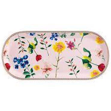 Maxwell Williams Teas & C's Oblong Platter Medium Contessa Design Porcelain Rose Pink