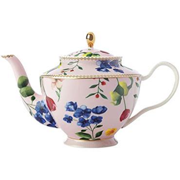 Maxwell Williams Teas & C's Teapot Contessa Design Porcelain Rose Pink 1L