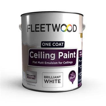 Fleetwood Ceiling Paint White 2.5 Litre