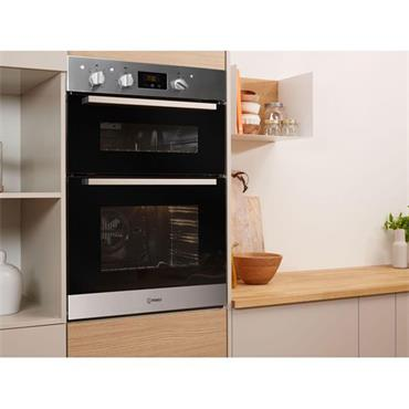 Indesit Built In Double Oven Stainless Steel
