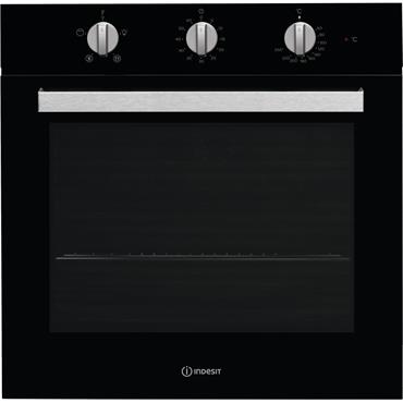 Indesit Single Oven Black