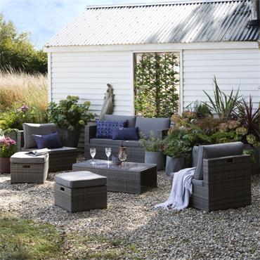 Antigua Bay Rattan Lounge Set