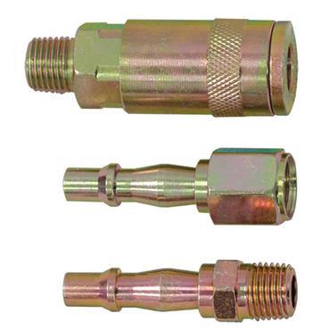 "Jefferson Air Tool Coupling Kit 1/4"" BSP 3pce"