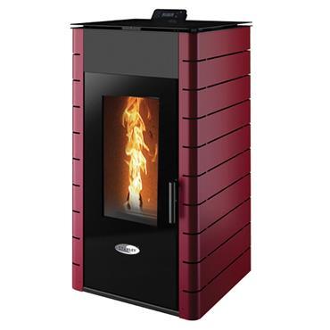 Solis K1700 17kw Boiler Pellet Stove  Claret