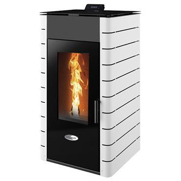 Solis K1700 17kw Boiler Pellet Stove  White