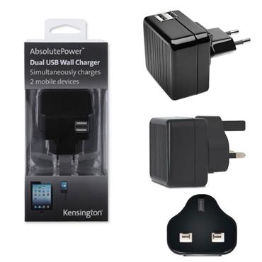 Kensington Absolute Power Dual USB Wall Charger