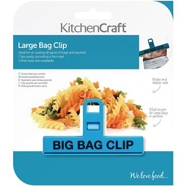 KitchenCraft 15cm Large Binder-Style Plastic Food Bag Clip