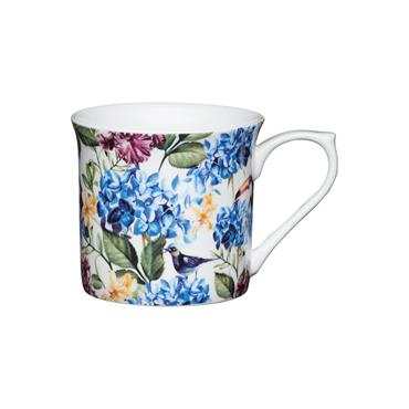 KitchenCraft Flute Mug Country Floral 300ml
