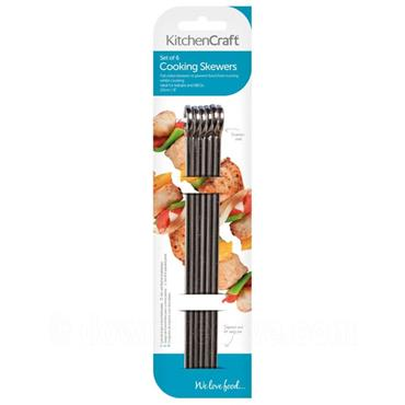 KitchenCraft Flat Sided Stainless Steel Skewer