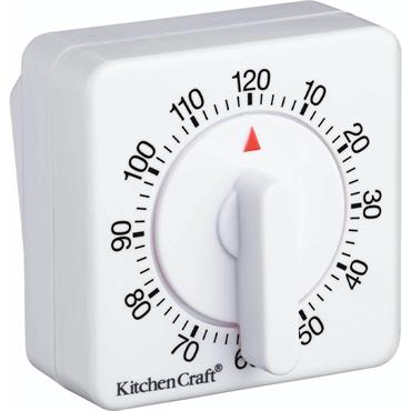 KitchenCraft Mechanical Two Hour Timer White