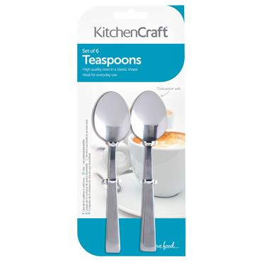 Stainless Steel Teaspoon Set 6pk