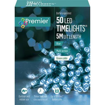 Blue 50 Led Battery Timelights