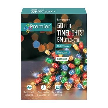 Multicoloured 50 Led Battery Timelights