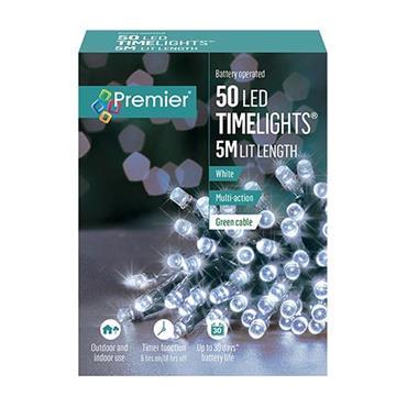 White 50 Led Battery Timelights