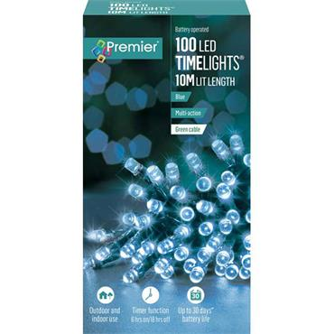 Blue 100 Led String Battery Operated Timelights