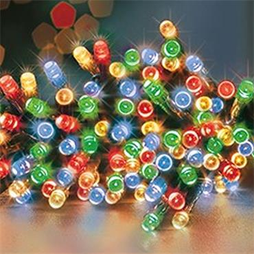 Premier 100 Multicolour LED Timelights Battery Operated
