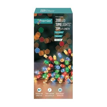 Multicoloured 200 LED Battery Operated Timelights