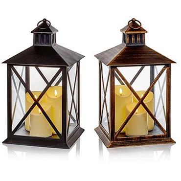 Premier Assorted 40cm Lantern With 3 Flickabright