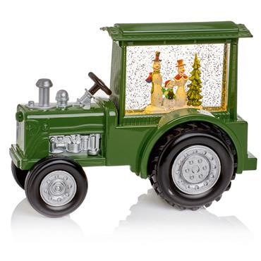Premier 32cm Green Tractor with Snowmen & Waterspinner