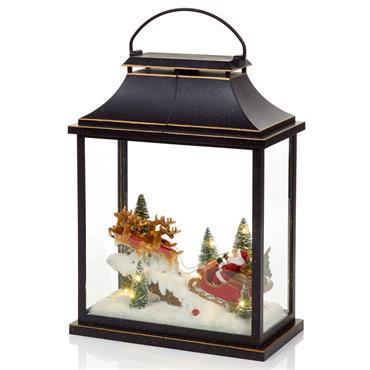 Black Christmas Lantern 41cm