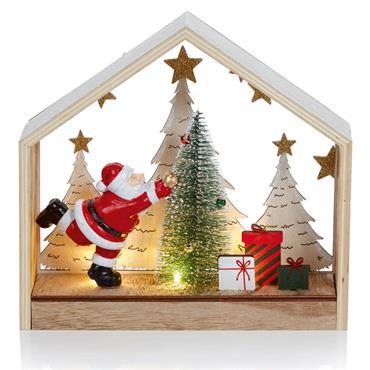 Santa Tree Scene 25cm