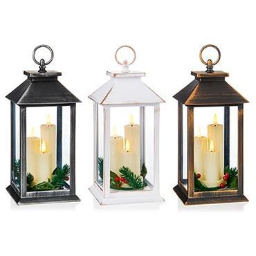 Premier Assorted 27cm Triple Flickerbright Lantern