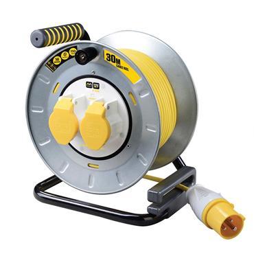 Masterplug Pro Xt 30m 2 Socket 110v Cable Reel