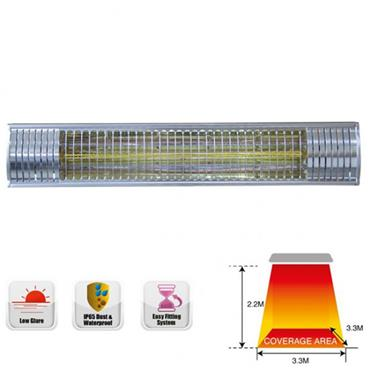 Ideal 2kw Infrared Patio Heater Silver