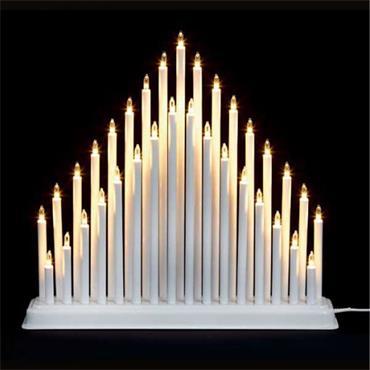 Premier 36cm White LED Candle Bridge